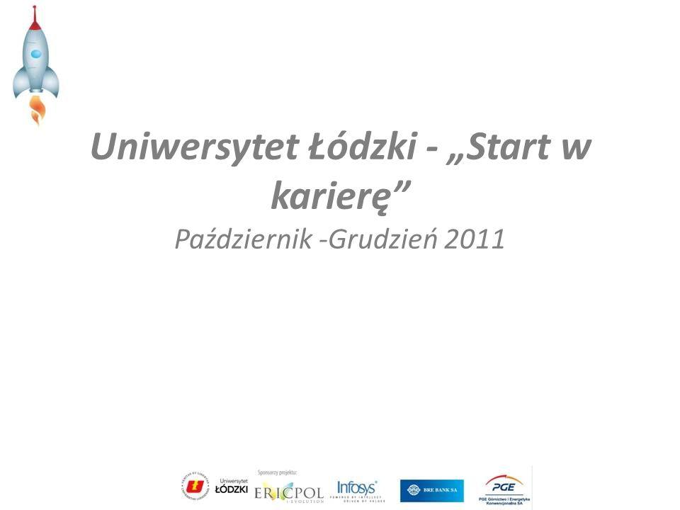 Uniwersytet Łódzki - Start w karierę Październik -Grudzień 2011