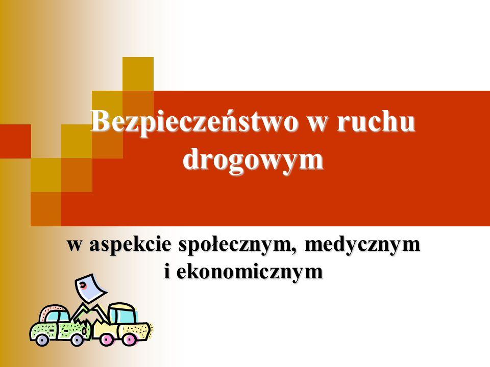 Bezpieczeństwo w ruchu drogowym w aspekcie społecznym, medycznym i ekonomicznym