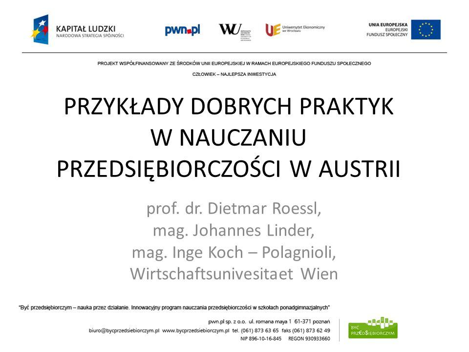 KSZTAŁTOWANIE POSTAW PRZEDSIĘBIORCZYCH – UWARUNKOWANIA I BARIERY dr hab. Krzysztof Safin, prof. UE