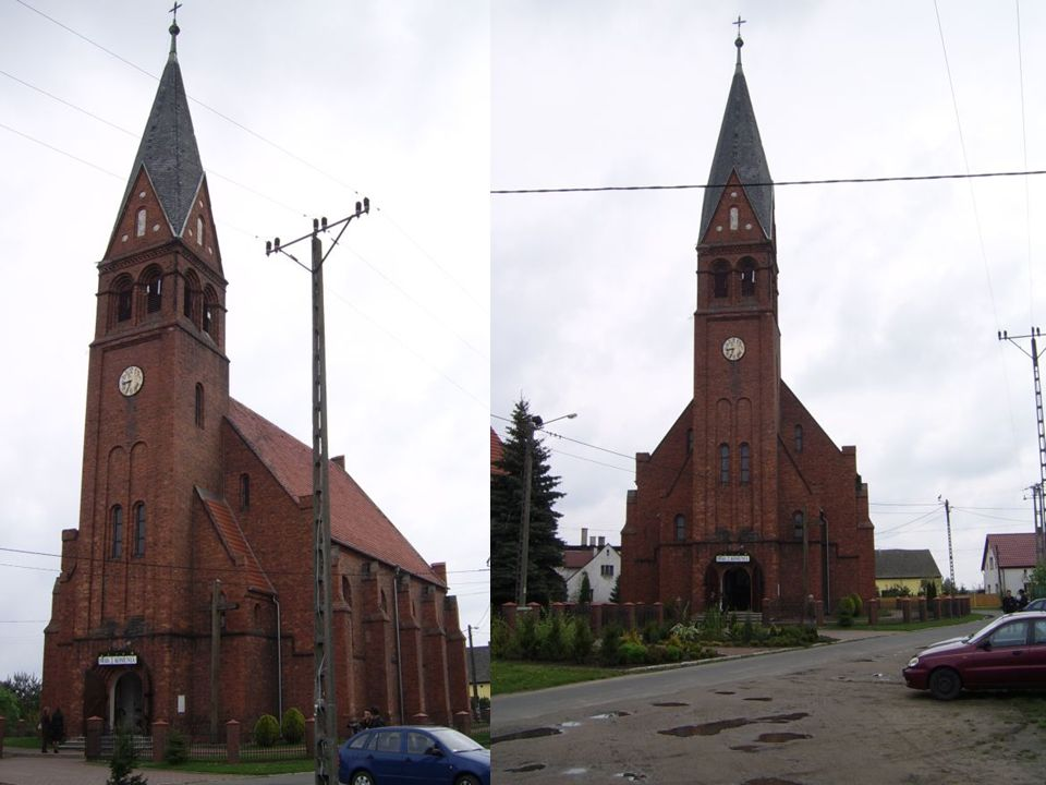 Ołtarz Główny w nim krucyfiks oraz postacie Świętego Piotra i Świętego Pawła.