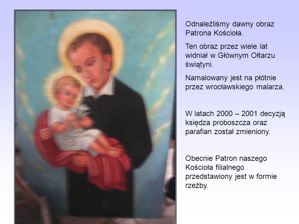 Odnaleźliśmy dawny obraz Patrona Kościoła. Ten obraz przez wiele lat widniał w Głównym Ołtarzu świątyni. Namalowany jest na płótnie przez wrocławskieg