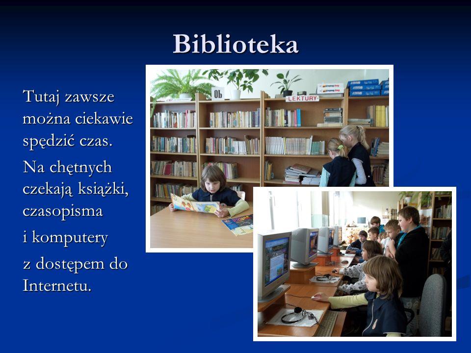 Biblioteka Tutaj zawsze można ciekawie spędzić czas. Tutaj zawsze można ciekawie spędzić czas. Na chętnych czekają książki, czasopisma Na chętnych cze