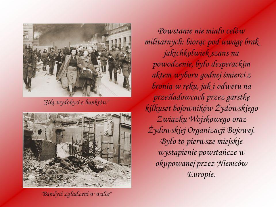 Powstanie nie miało celów militarnych: biorąc pod uwagę brak jakichkolwiek szans na powodzenie, było desperackim aktem wyboru godnej śmierci z bronią