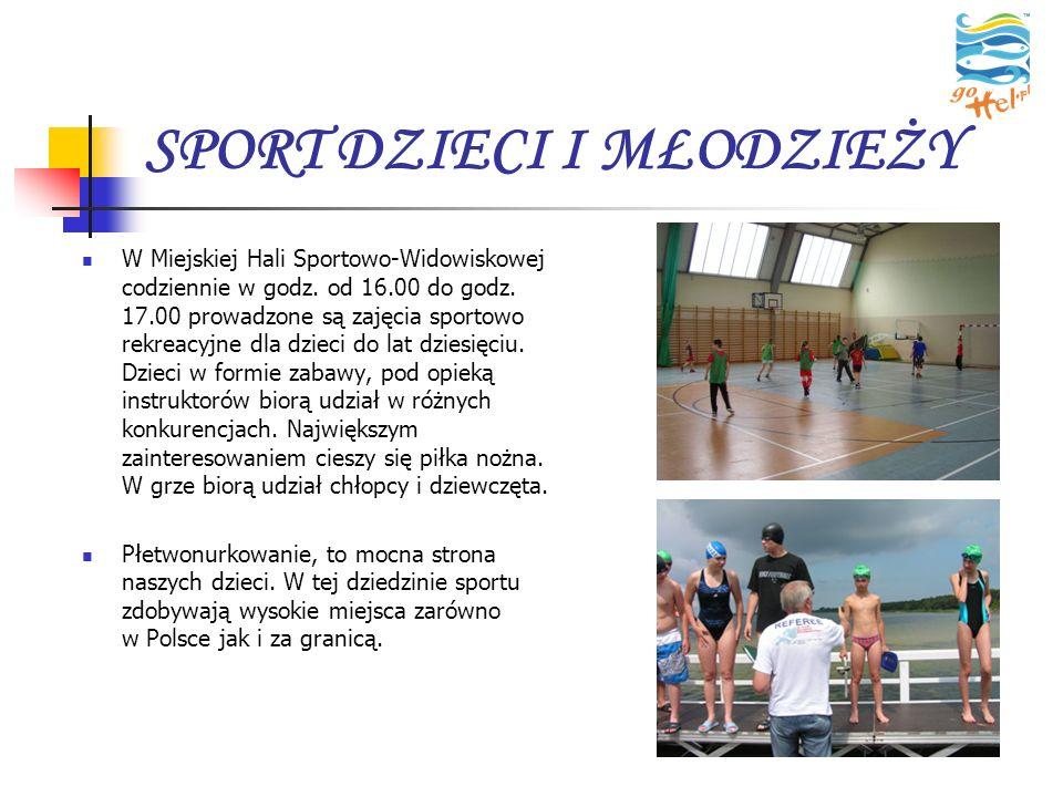 SPORT DZIECI I MŁODZIEŻY W Miejskiej Hali Sportowo-Widowiskowej codziennie w godz. od 16.00 do godz. 17.00 prowadzone są zajęcia sportowo rekreacyjne
