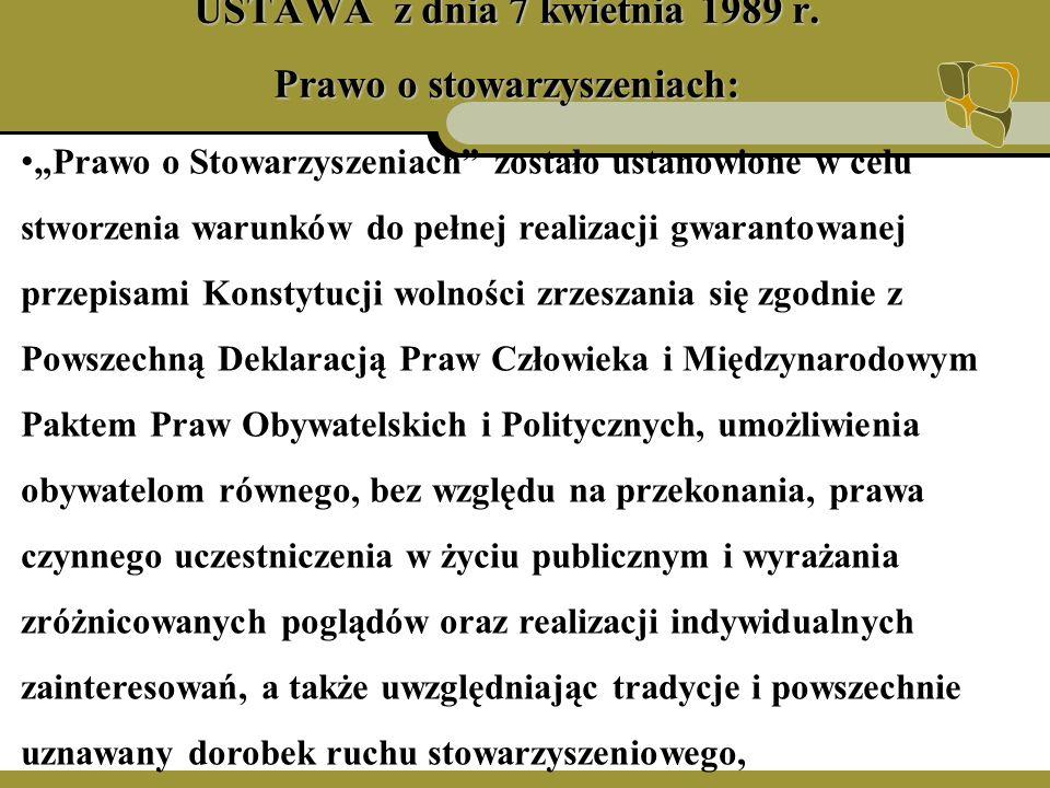 USTAWA z dnia 7 kwietnia 1989 r.