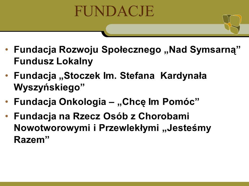 FUNDACJE Fundacja Rozwoju Społecznego Nad Symsarną Fundusz Lokalny Fundacja Stoczek Im.