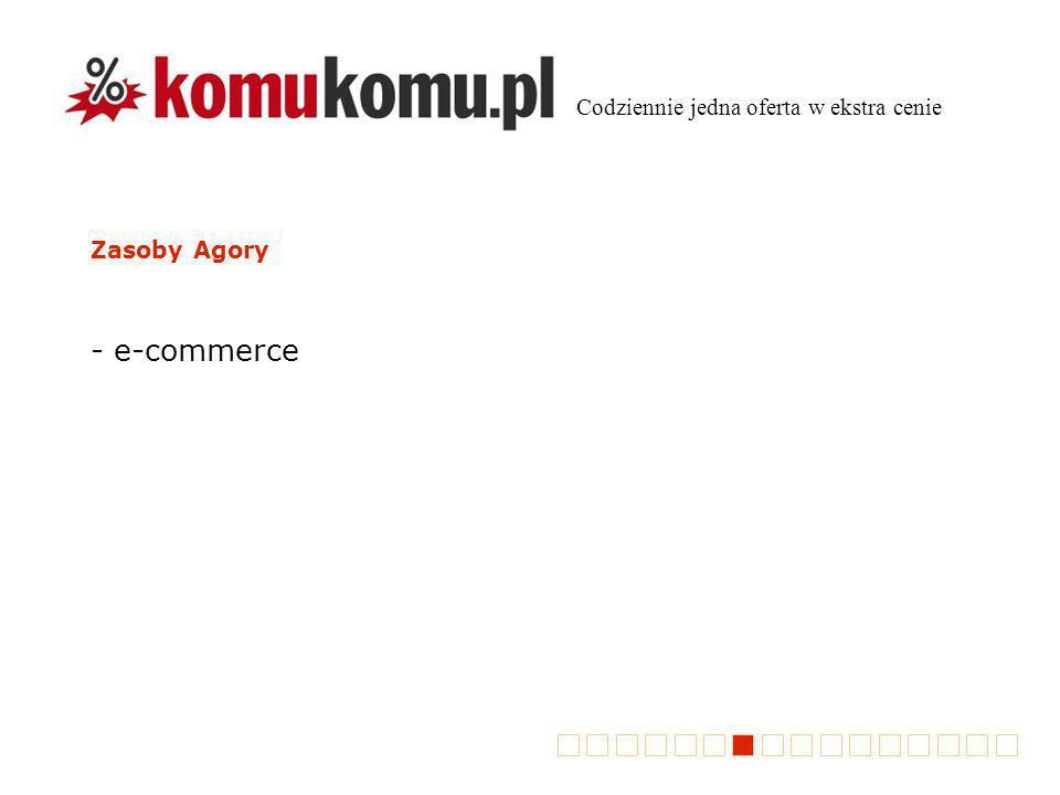 Zasoby Agory - e-commerce Codziennie jedna oferta w ekstra cenie