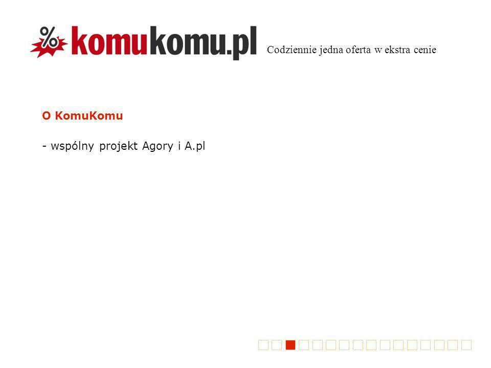 O KomuKomu - wspólny projekt Agory i A.pl Codziennie jedna oferta w ekstra cenie