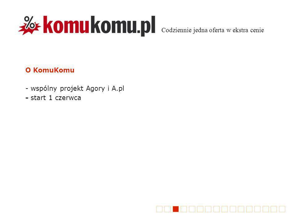 O KomuKomu - wspólny projekt Agory i A.pl - start 1 czerwca Codziennie jedna oferta w ekstra cenie