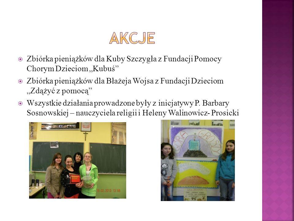 Zbiórka pieniążków dla Kuby Szczygła z Fundacji Pomocy Chorym Dzieciom Kubuś Zbiórka pieniążków dla Błażeja Wojsa z Fundacji Dzieciom Zdążyć z pomocą