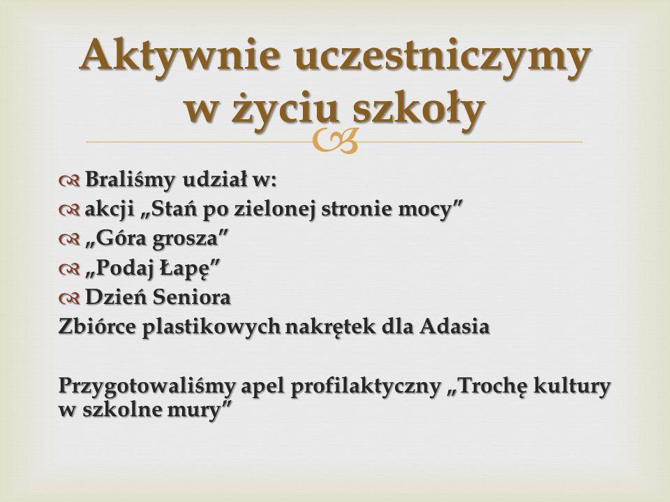 Reprezentowaliśmy szkołę w II Międzygminnych Prezentacjach Krasomówczych Gawędziarstwo Wielkopolskie oraz w Przeglądzie twórczości w Domu Kultury.