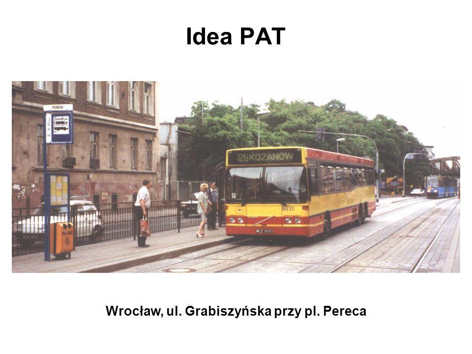 PRZECIW dobre parametry obecnych tras autobusowych (duży udział ulic dwujezdniowych z 2 lub 3 pasami ruchu w każdym kierunku) organizacja i sterowanie ruchem nieprzyjazne usprawnianiu komunikacji zbiorowej: –niski udział sygnalizacji kierunkowych –brak centralnego systemu sterowania ruchem –marginalny zakres priorytetów dla pojazdów komunikacji zbiorowej plany na przyszłość: podstawą komunikacji zbiorowej ma być transport szynowy, komunikacja autobusowa ma stanowić jedynie uzupełnienie