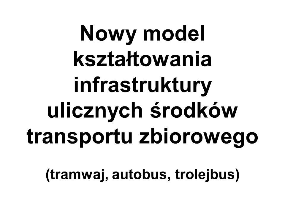 Nowy model kształtowania infrastruktury ulicznych środków transportu zbiorowego (tramwaj, autobus, trolejbus)