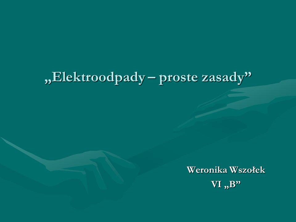Elektroodpady – proste zasady Weronika Wszołek VI B