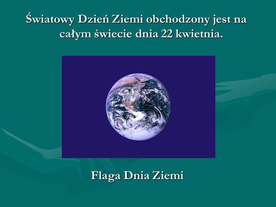 Światowy Dzień Ziemi obchodzony jest na całym świecie dnia 22 kwietnia. Flaga Dnia Ziemi