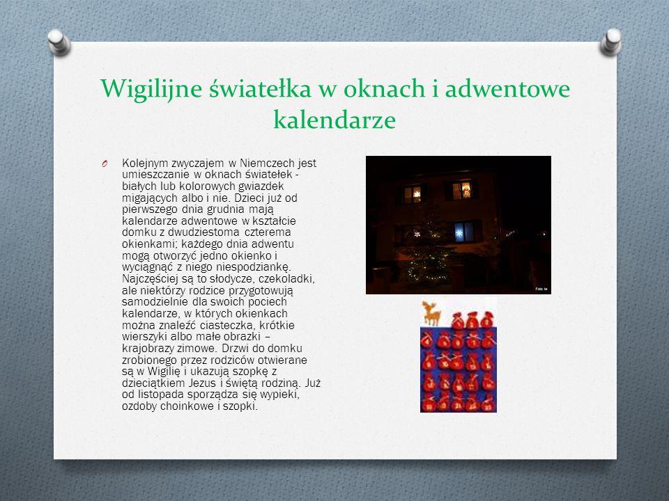 Wigilijne światełka w oknach i adwentowe kalendarze O Kolejnym zwyczajem w Niemczech jest umieszczanie w oknach światełek - białych lub kolorowych gwi