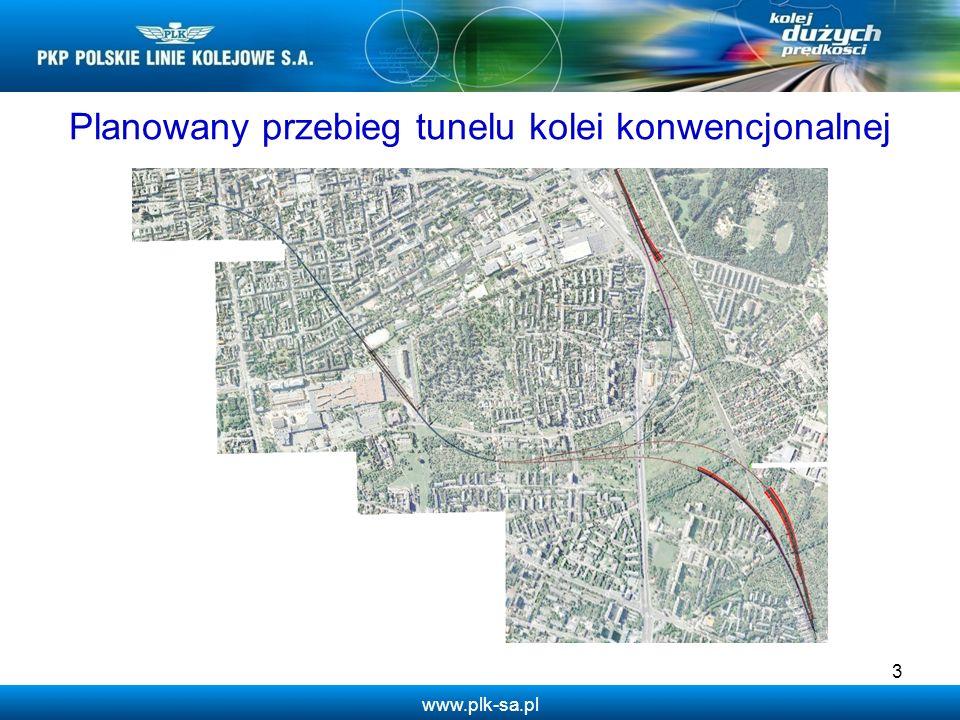 www.plk-sa.pl Planowany przebieg tunelu kolei konwencjonalnej 3