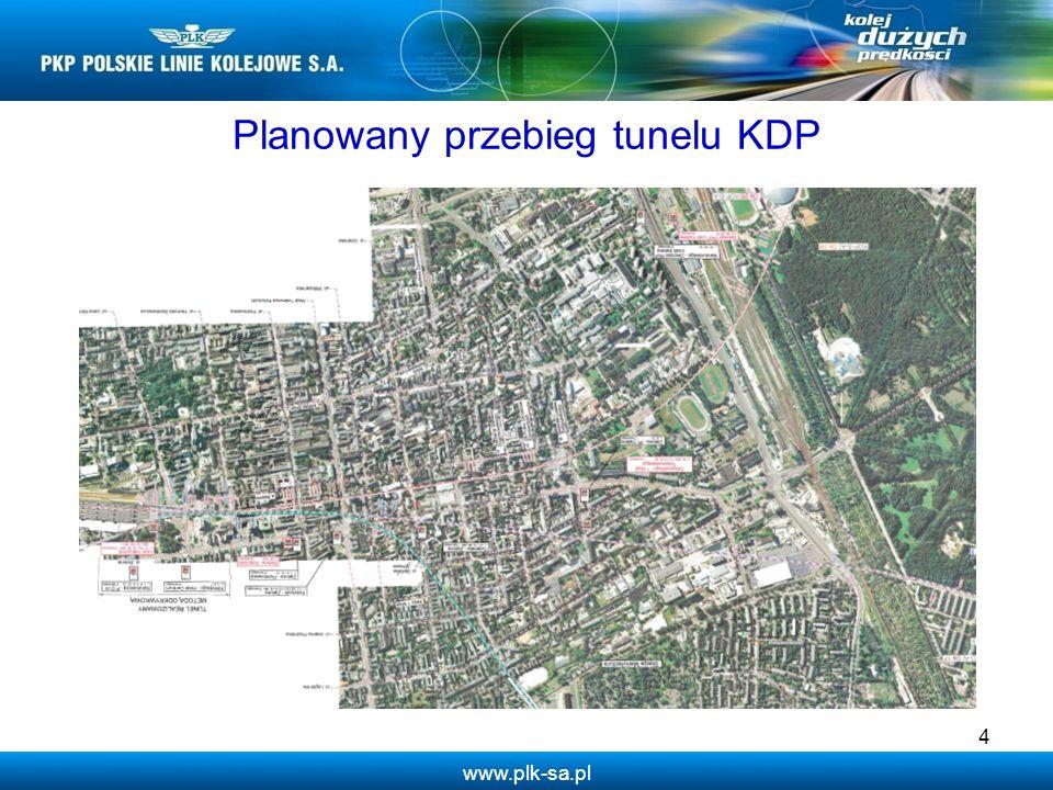 www.plk-sa.pl Planowany przebieg tunelu KDP 4