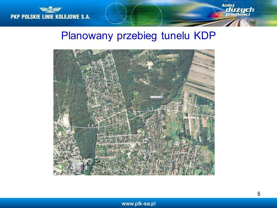 www.plk-sa.pl Planowany przebieg tunelu KDP 5