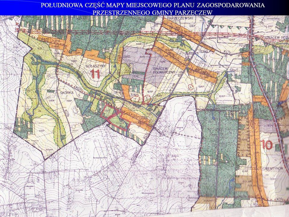 Dla terenów oznaczonych na rysunku planu symbolami: 11.12.UT; 11.13.UT zgodnie z UCHWAŁĄ NR XXXI/380/05 RADY GMINY w PARZĘCZEWIE z dnia 31 marca 2005 r.