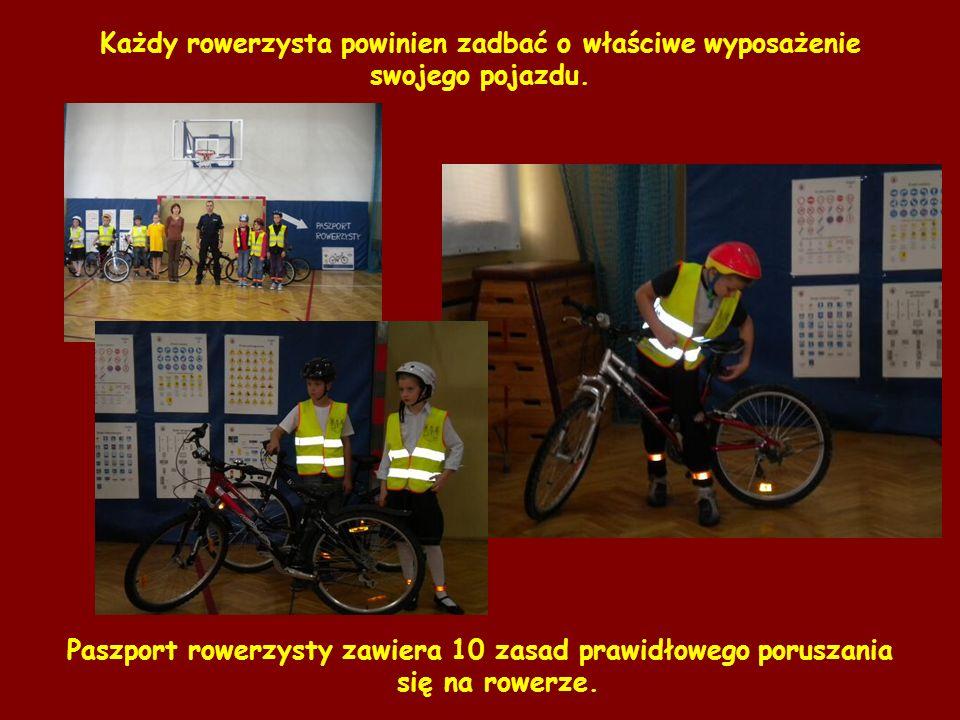 Każdy rowerzysta powinien zadbać o właściwe wyposażenie swojego pojazdu. Paszport rowerzysty zawiera 10 zasad prawidłowego poruszania się na rowerze.