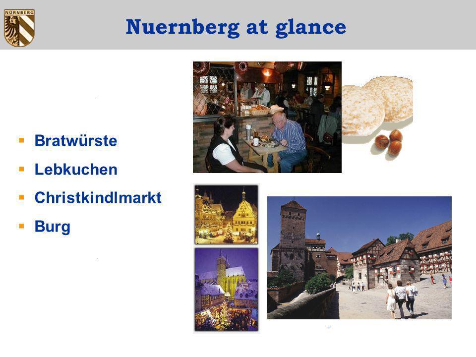 Nuernberg at glance Bratwürste Lebkuchen Christkindlmarkt Burg