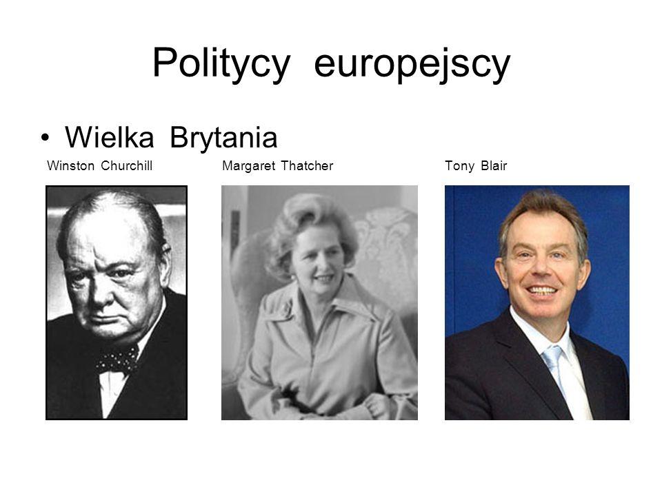 Politycy europejscy Niemcy Konrad Adenauer Willy Brandt Helmut Kohl Gerhard Schroeder Angela Merkel
