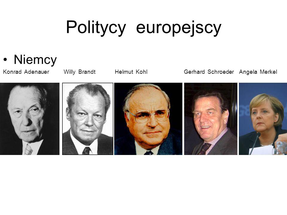 Politycy europejscy Francja Charles de Gaulle Valery Giscard d estaing Francois Mitterrand Jacques Chirac Nicoloas Sarkozy