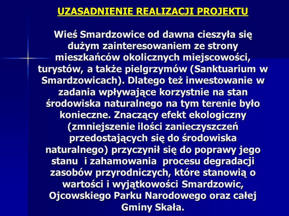UZASADNIENIE REALIZACJI PROJEKTU Wieś Smardzowice od dawna cieszyła się dużym zainteresowaniem ze strony mieszkańców okolicznych miejscowości, turystó