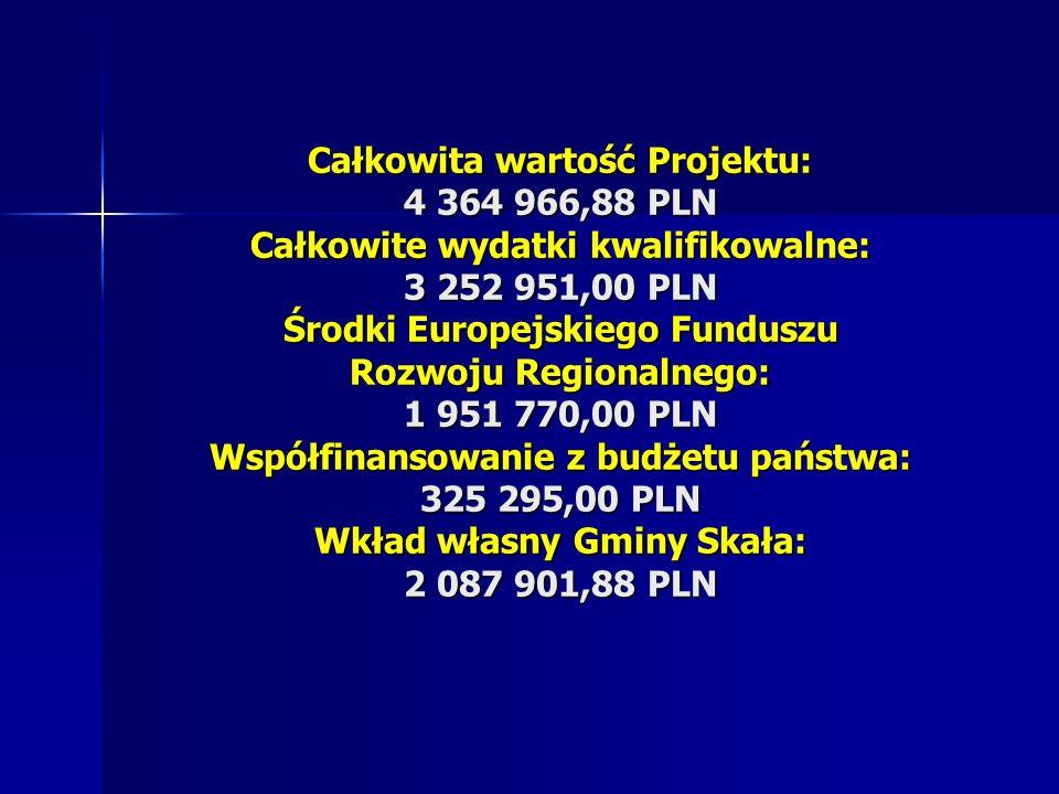 Całkowita wartość Projektu: 4 364 966,88 PLN Całkowite wydatki kwalifikowalne: 3 252 951,00 PLN Środki Europejskiego Funduszu Rozwoju Regionalnego: 1