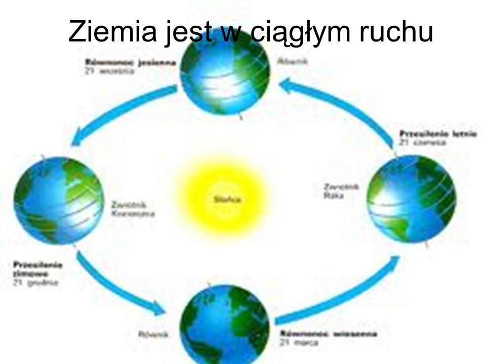 Ziemia jest w ciągłym ruchu