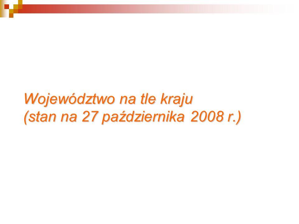 Województwo na tle kraju (stan na 27 października 2008 r.)