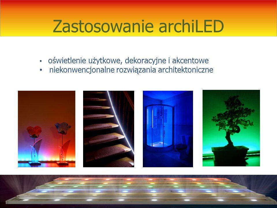 Zastosowanie archiLED oświetlenie użytkowe, dekoracyjne i akcentowe niekonwencjonalne rozwiązania architektoniczne
