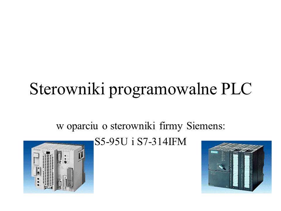 Sterowniki programowalne PLC w oparciu o sterowniki firmy Siemens: S5-95U i S7-314IFM