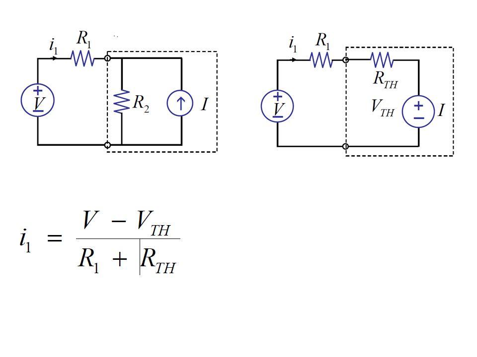 - napięcie jałowe - rezystancja wypadkowa widziana z zacisków przy VTH=0 oraz I=0