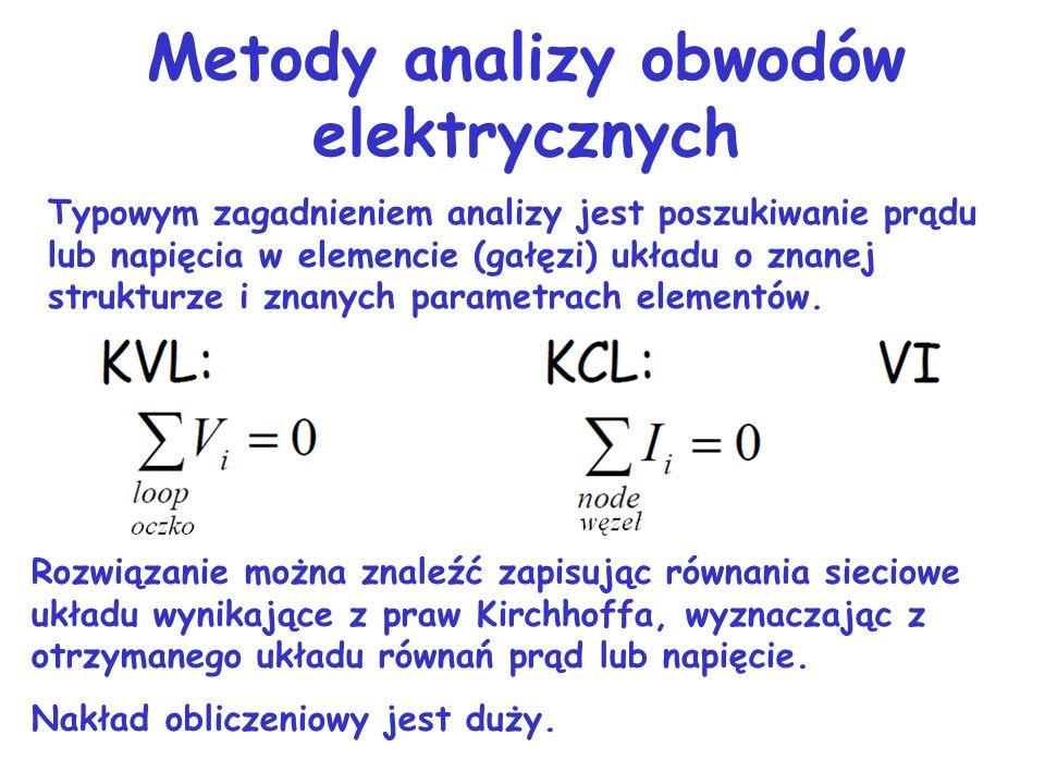Liniowość obwodu Element nazywamy liniowym, gdy opisany jest równaniem liniowym. Obwody, których elementy są liniowe nazywamy obwodami liniowymi. Taki