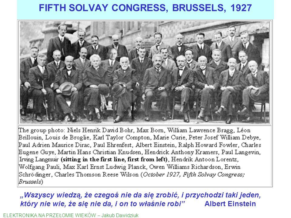 WAŻNIEJSZE WYDARZENIA W HISTORII ELEKTRONIKI FET, TYRATRON, IGNITRON 1922-1931 ELEKTRONIKA NA PRZEŁOMIE WIEKÓW – Jakub Dawidziuk