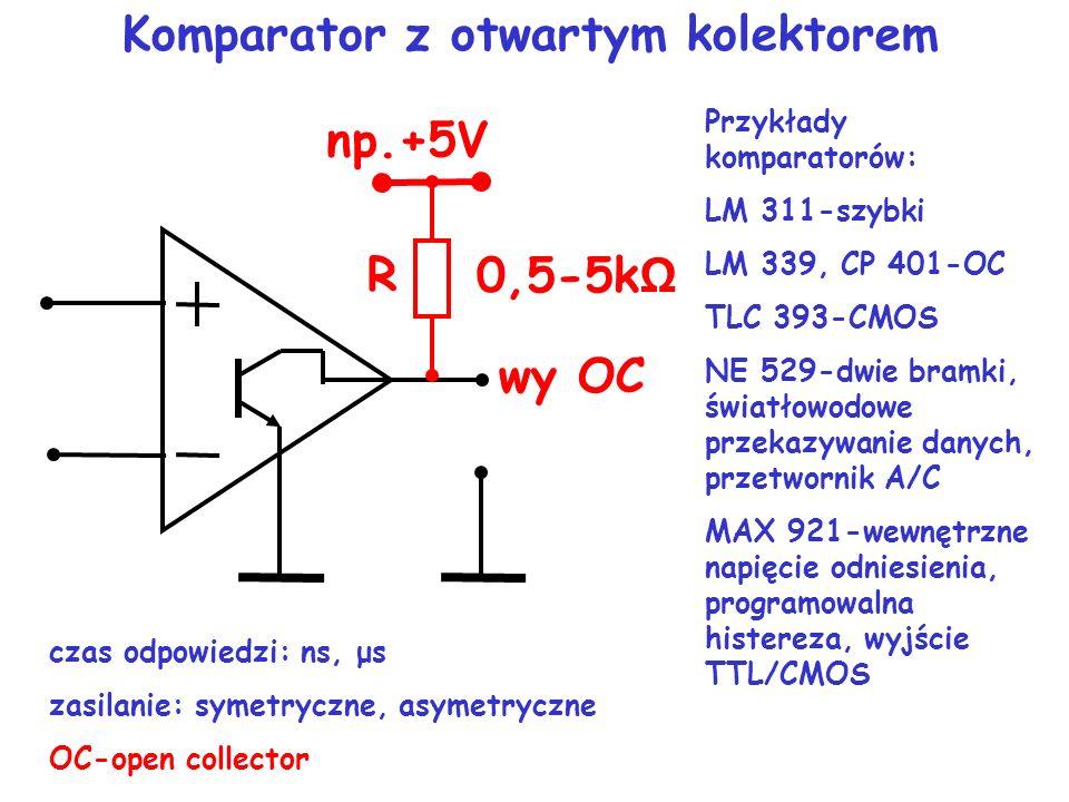 u wy komparatora nieregeneracyjnego t U HO U LO u wy komparatora regeneracyjnego U HO t U LO u we t U REF U his
