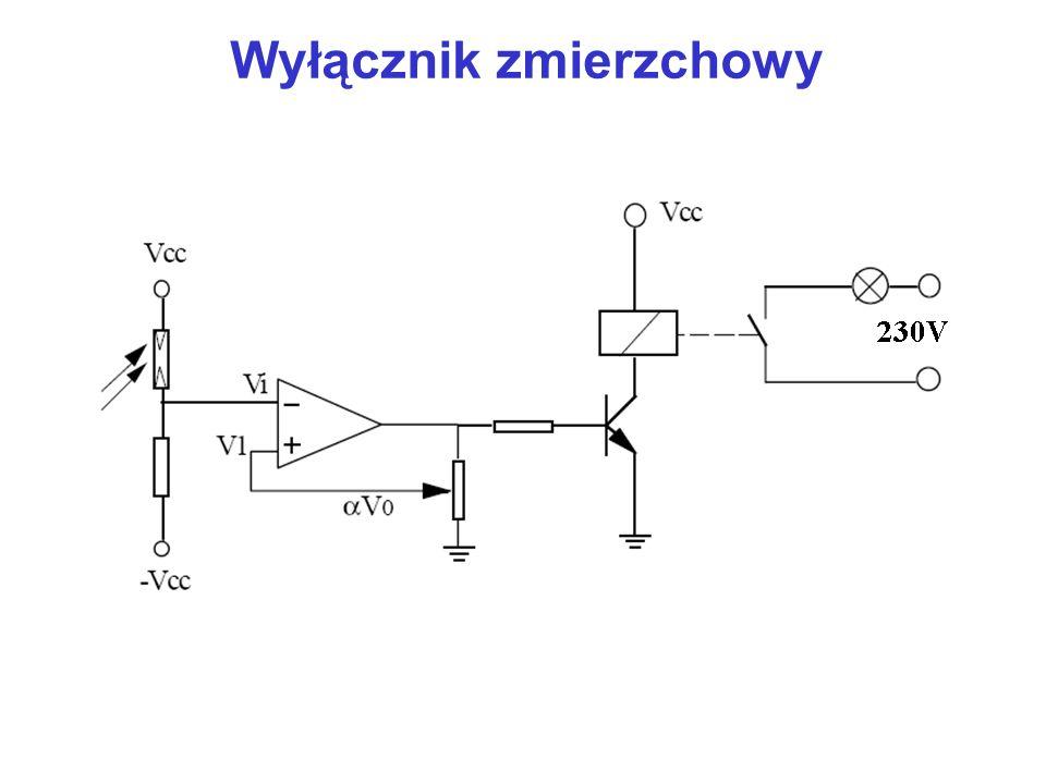 Komparator z otwartym kolektorem np.+5V wy OC R0,5-5k Ω Przykłady komparatorów: LM 311-szybki LM 339, CP 401-OC TLC 393-CMOS NE 529-dwie bramki, światłowodowe przekazywanie danych, przetwornik A/C MAX 921-wewnętrzne napięcie odniesienia, programowalna histereza, wyjście TTL/CMOS czas odpowiedzi: ns, μs zasilanie: symetryczne, asymetryczne OC-open collector