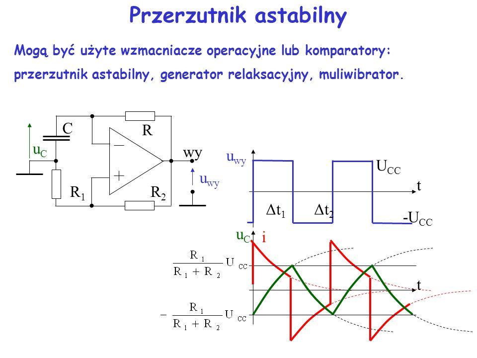 Detektory przejścia przez zero Detektor przejścia przez zero wytwarza sygnał wyjściowy zmieniający stan za każdym razem, gdy wartość analogowego sygna