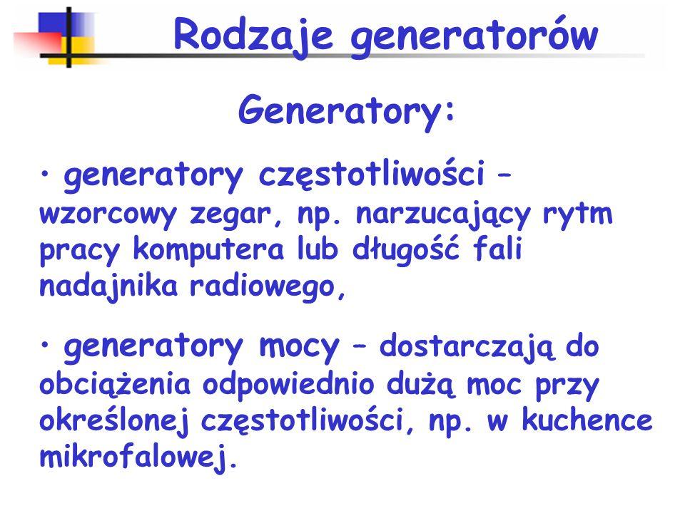 Podstawowe rodzaje generatorów