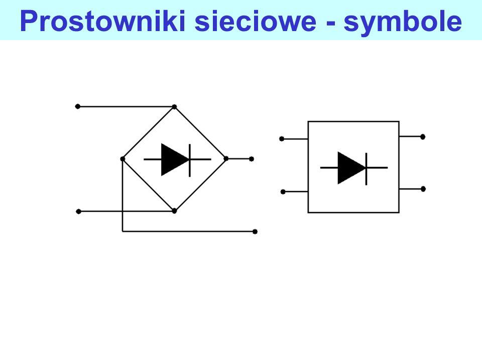Prostowniki sieciowe prostowniki przekształcają napięcie przemienne na napięcie stałe, wartość stałego napięcia wyjściowego jest regulowana przez ustalenie odpowiedniego wejściowego napięcia przemiennego, dzielone są na układy jednopołówkowe (jednopulsowe) i dwupołówkowe (dwupulsowe), najczęstsze zastosowania to zasilacze sieciowe i urządzenia do ładowania akumulatorów.