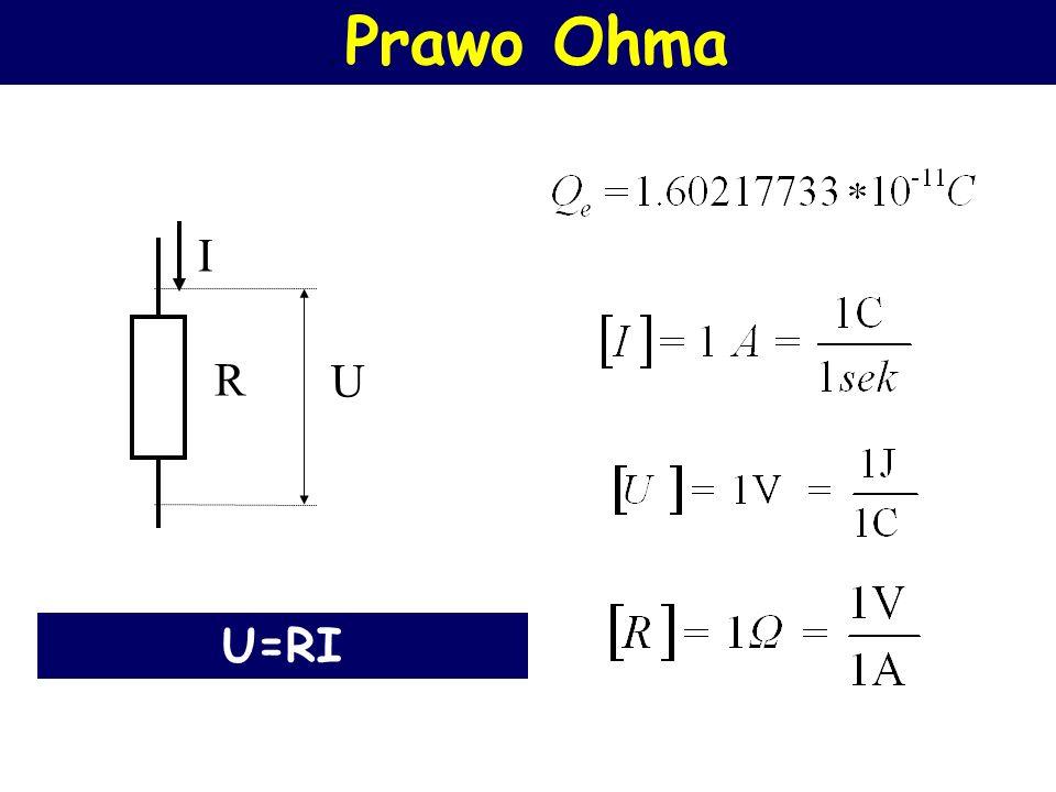 Prawo Ohma Natężenie prądu płynącego w obwodzie jest wprost proporcjonalne do napięcia zasilającego obwód i odwrotnie proporcjonalne do oporu tego obwodu.