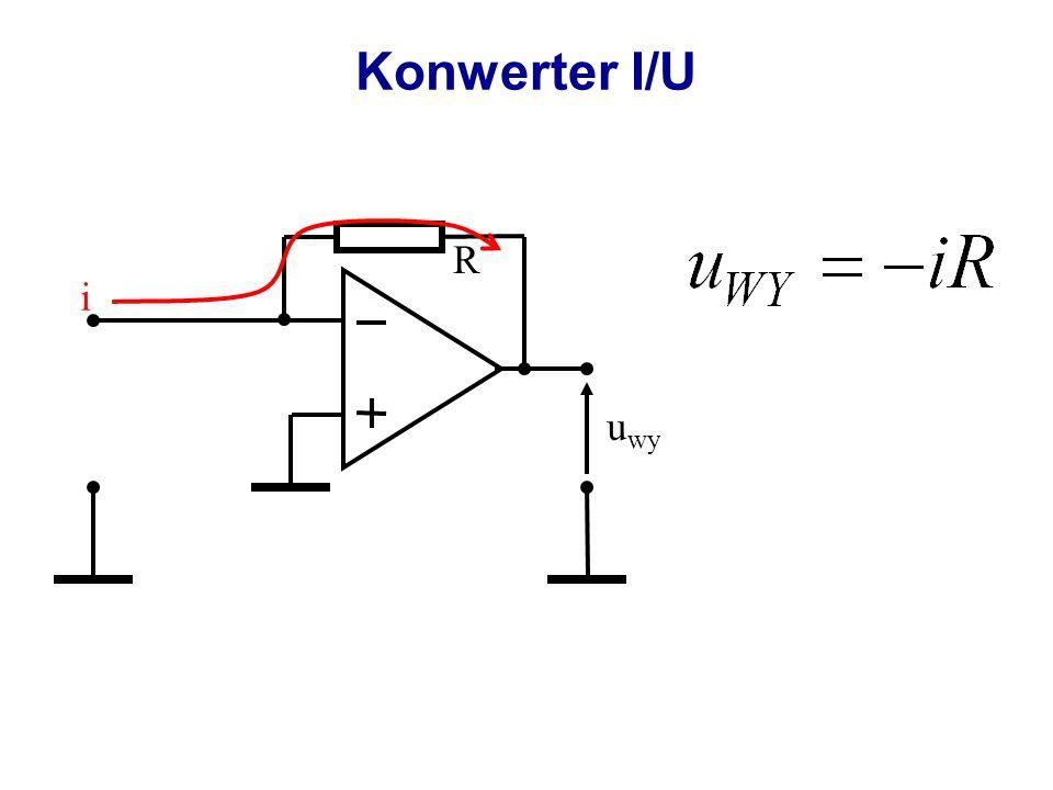 Wzmacniacz różniczkujący u1u1 u wy R u id C