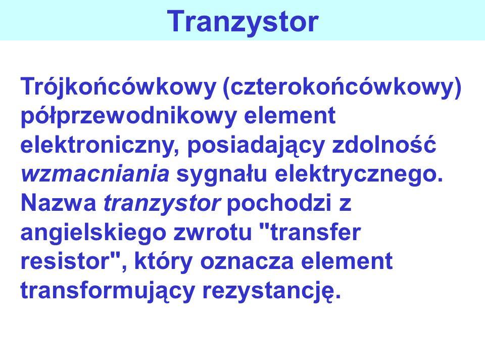 Trójkońcówkowy (czterokońcówkowy) półprzewodnikowy element elektroniczny, posiadający zdolność wzmacniania sygnału elektrycznego.