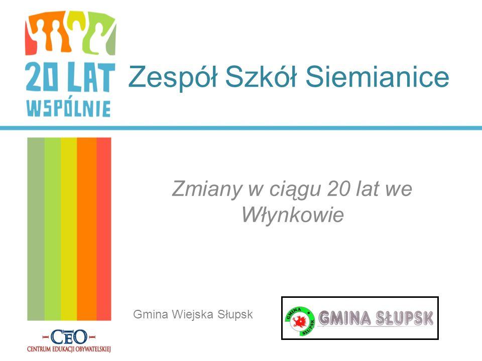 Zespół Szkół Siemianice Zmiany w ciągu 20 lat we Włynkowie Gmina Wiejska Słupsk