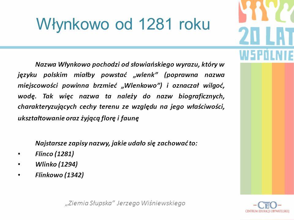 Nazwa Włynkowo pochodzi od słowiańskiego wyrazu, który w języku polskim miałby powstać wlenk (poprawna nazwa miejscowości powinna brzmieć Wlenkowo) i