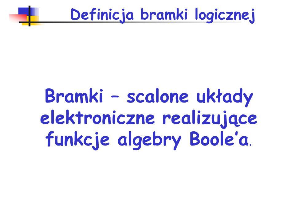 Poziomy logiczne TTL U Zaś = +5 V CMOS U Zaś = + 5 V ECL U Zaś = - 5,2 V