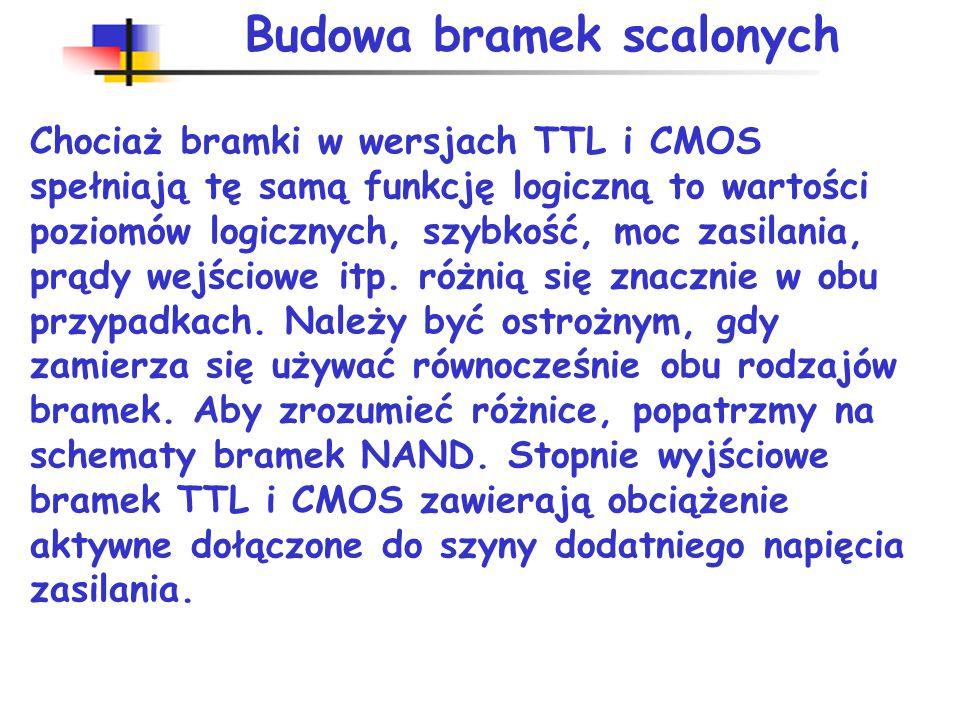 Parametry układów CMOS rodzin trzywoltowych