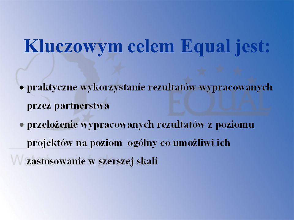 Projekty w ramach IW Equal (107) realizowane są w 3 etapach: Działanie 1 - zawiązanie partnerstwa Działanie 2 – realizacja założeń projektu Działanie 3 – włączanie rezultatów do głównego nurtu polityki